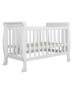 Koopers Sleigh 4-in-1 Single Baby Cot (White Cot Only)