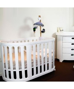 Gelite - Grace 4-in-1 Baby Cot (White)