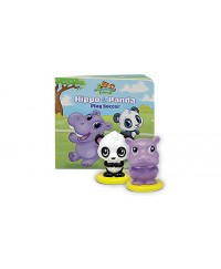 LeapFrog Learning Friends Hippo & Panda Figure Set with Board Book