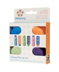 Life Factory Colored Flat Cap Set (4 caps)
