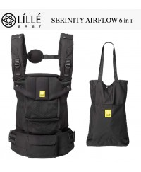 LÍLLÉbaby Airflow 6 in 1 Position 360° Ergonomic Baby and Child Carrier  -  Serinity Black