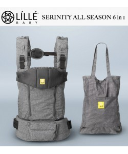 LÍLLÉbaby All Seasons 6 in 1 Position 360° Ergonomic Baby and Child Carrier  -  Serinity Argent