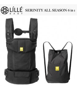 LÍLLÉbaby All Seasons 6 in 1 Position 360° Ergonomic Baby and Child Carrier  -  Serinity Black