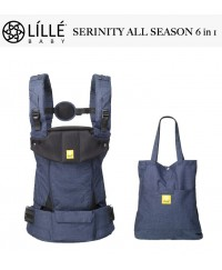 LÍLLÉbaby All Seasons 6 in 1 Position 360° Ergonomic Baby and Child Carrier  -  Serinity Indigo