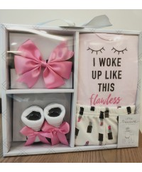 Little Treasure Layette Gift Box Set - Flawless Pink 4pcs