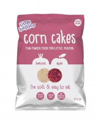 Little Bellies Corn Cakes Beetroot & Apple