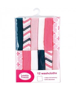 Luvable friends Wash Cloth (12pcs) Pink