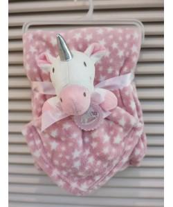 Luvena Fortuna Fleece Blanket & Comforter - Unicorn