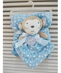 Luvena Fortuna Fleece Blanket & Comforter - Monkey