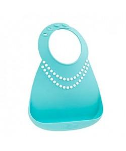 Make My Day Baby Bibs - Tiffany Blue w/Pearls