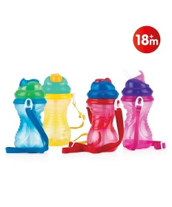 Nuby Flip-It Straw Cup With Strap-420ml (14oz)