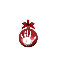 Pearhead Babyprints Red Ball Ornament