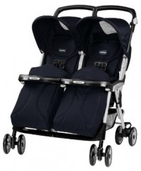 Peg Perego Aria Twin Stroller - Eclipse (Best Buy)