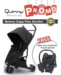 Quinny Zapp Flex Stroller + Free Maxi Cosi Cabriofix Travel System