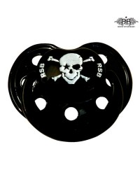 Rock Star Baby Orthodontic Pacifier - Pirate Black 3m+