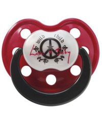 Rock Star Baby Orthodontic Pacifier - Peace 3m+