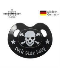 Rock Star Baby Orthodontic Pacifier - Pirate (With Cover) 18m+
