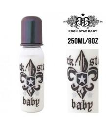 Rock Star Baby Narrow Neck Bottles - Fleur De Lis Dark (250ml/8oz)