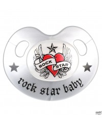 Rock Star Baby Orthodontic Pacifier - Heart & Wings (With Cover) 18m+