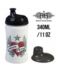 Rock Star Baby Sippy Cup - Heart & Wings (340ml/11oz)