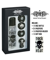 Rock Star Baby Pacifier & Bottle Gift Set - Pirate