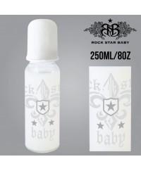 Rock Star Baby Narrow Neck Bottles - Fleur De Lis Light (250ml/8oz)