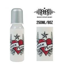 Rock Star Baby Narrow Neck Bottles - Heart & Wings (250ml/8oz)