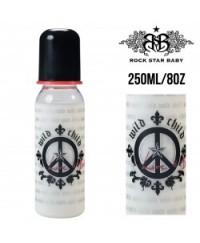 Rock Star Baby Narrow Neck Bottles - Peace (250ml/8oz)