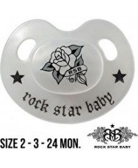 Rock Star Baby Orthodontic Pacifier - Rose (With Cover) 18m+