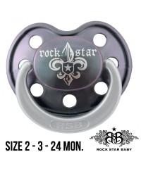 Rock Star Baby Pacifier (Glow in the dark )- FLEUR DE LIS DARK 3m+