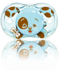 "Razbaby ""Keep-It-Kleen"" Pacifier Percy Blue Puppy"