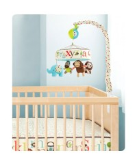 Skip Hop Alphabet Zoo Musical Crib Mobile