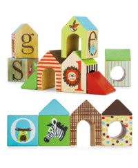 Skip Hop Alphabet Zoo ABC House Blocks