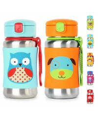 Skip Hop Zoo Stainless Steel Sport Bottle