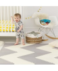 Skip Hop Playspot Geo Foam Floor Tiles - Grey/Cream