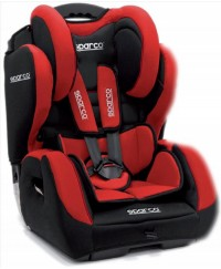 Sparco F700K Car Seat 1+2+3 Red