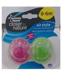 Tommee Tippee Closer to Nature Air Soother 0-6m (2pk)