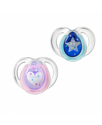 Tommee Tippee Closer to Nature Night Time Soother 0-6m (2pk)