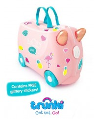 Trunki Suitcase - Flossie the Flamingo