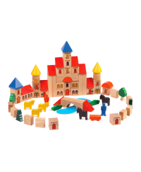 Voila Castle Building Blocks Wooden Toys