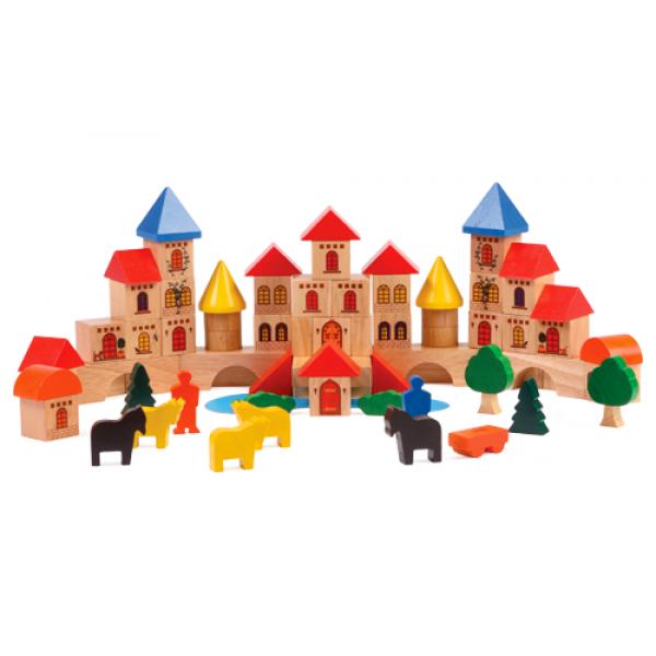 Voila Wooden Castle Building Blocks