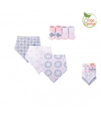 Yoga Sprout Bandana Bib & Socks Set-Whimsical (5pcs)