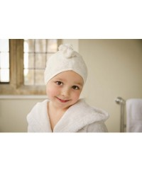 Cuddletwist Hair Towel - Ecru / White