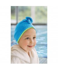 Cuddletwist Hair Towel - Blue / Lime