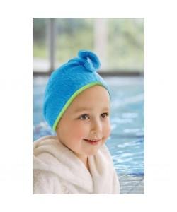 Cuddletwist Hair Towel - Blue / Lime