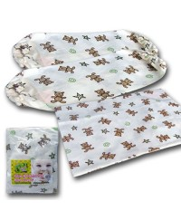 Bumble Bee Covers for Pillow & Bolster Set