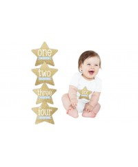 Pearhead First Year Baby Belly Gold Stickers