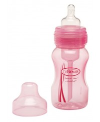 Dr. Brown's 8oz Wide Neck Bottle - Pink