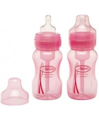 Dr. Brown's 8oz Wide Neck Bottle - Pink ( 2 Pack )