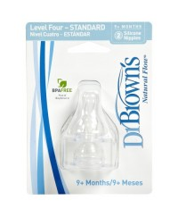 Dr. Brown's Silicone Standard Teat  Level 4 ( 2 pack )